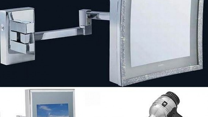 Aliseo decks up bathroom accessories into Swarovski crystals