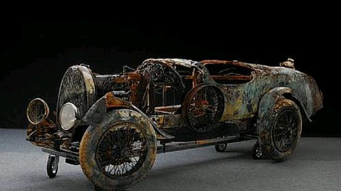 Rusted Bugatti fetches three times above estimated value at Bonhams