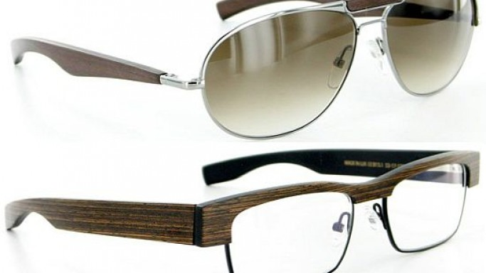 Gold & Wood eyewear collection for the man or woman of distinction