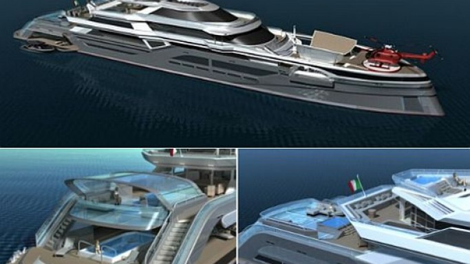 The New Diamond superyacht aims to be as 'green' as possible