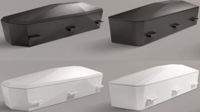 Diamant coffin by Jacob Jensen Design for a dignified farewell