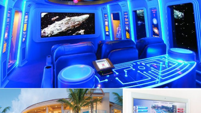 This Hawaiian house too has a Star Wars-themed home theater