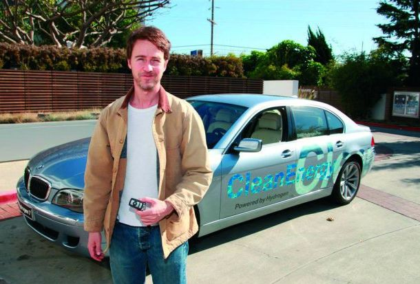 photo of Edward Norton BMW Hydrogen 7 - car