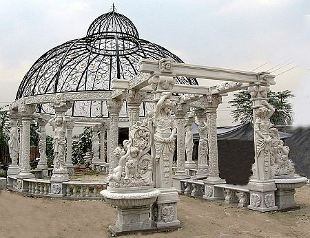 eBay watch – Carved White Marble Gazebo Pavilion