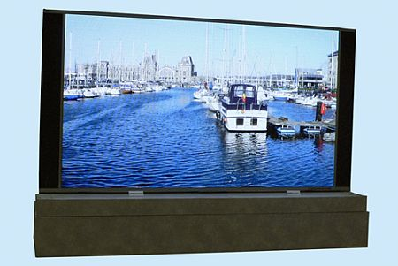 Mitsubishi's life-size 140-inch Resolia LED display
